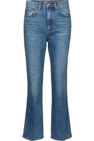 Tory Burch Jeans cropped de tiro medio