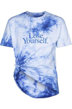 Paco rabanne Camiseta de algodón con tie-dye