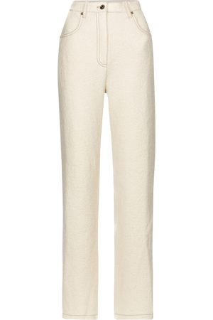 Nanushka Pantalones rectos Drew de lana