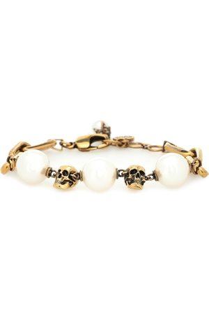 Alexander McQueen Pulsera de cadena de perlas artificiales