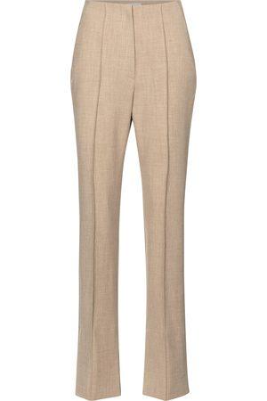 Nanushka Pantalones rectos Vera de tiro alto