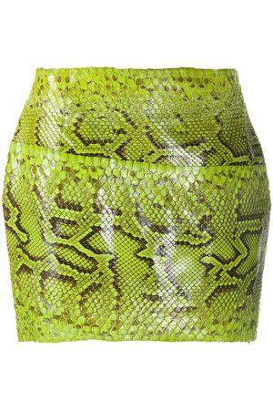 Dolce & Gabbana Minifalda con efecto de piel de serpiente