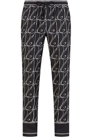 Dolce & Gabbana Pantalones de pijama con logo estampado