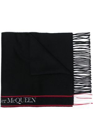 Alexander McQueen Bufanda con rayas del logo