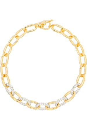 Kenneth Jay Lane Crystal embellished chain-link necklace
