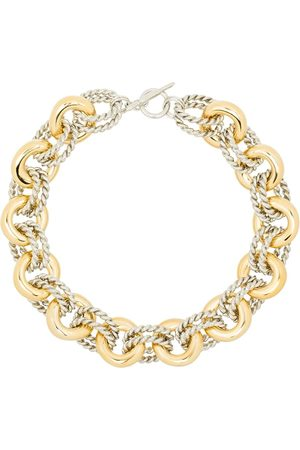 Kenneth Jay Lane Two-tone rope-link necklace