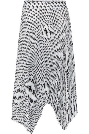 Marine Serre Falda midi plisada estampada