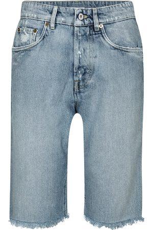 Miu Miu Distressed high-rise denim shorts