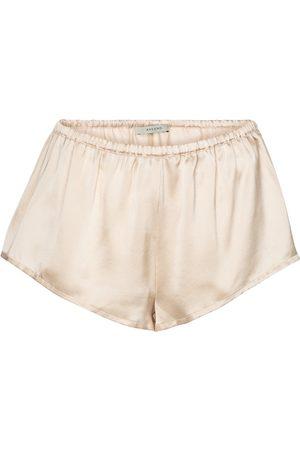 ASCENO Shorts Venice de satén de seda