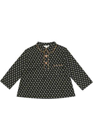 Caramel Camisa Blackbird de algodón floral