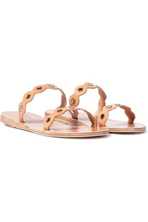 Ancient Greek Sandals Sandalias Melia Mirrors de piel