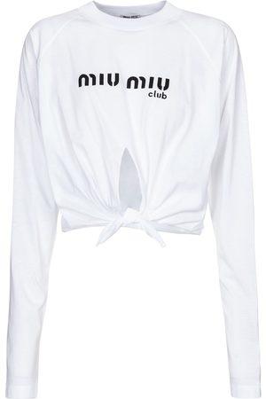 Miu Miu Crop top de algodón