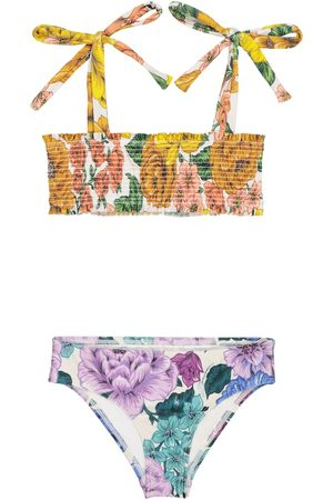ZIMMERMANN Exclusivo en Mytheresa – bikini fruncido floral Poppy