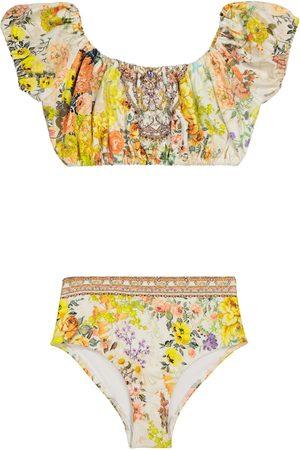 Camilla Bikini floral adornado