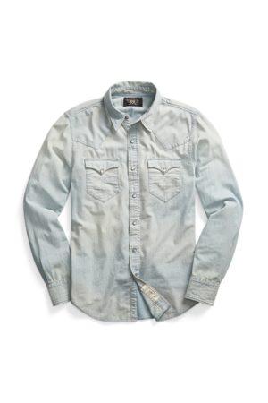 RRL Camisa Western Slim Fit de cambray