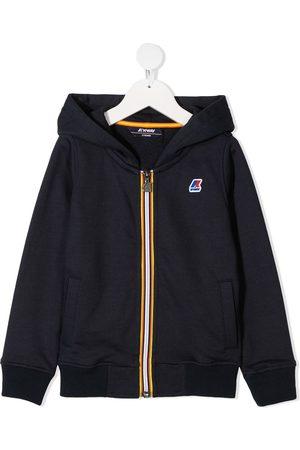 K-Way Niño Bomber - Chaqueta con capucha y parche del logo