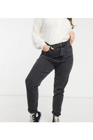 New Look Mujer Cintura alta - Vaqueros mom negros de New Look Curve