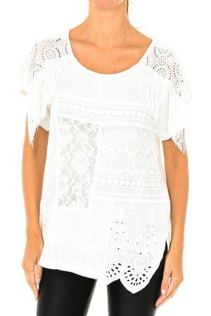 Desigual Blusa Blusa de manga corta para mujer