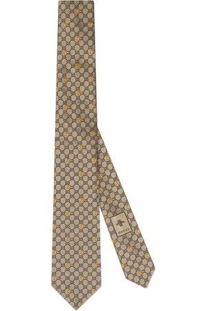 Gucci Hombre Corbatas y corbatín - Corbata de Seda con GG y Abejas
