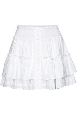 POUPETTE ST BARTH Mujer Minifaldas - Exclusivo en Mytheresa – minifalda Camila de algodón con volantes