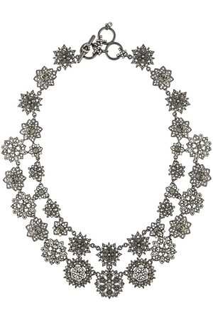 Marchesa Collar con motivo floral y cristales