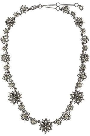 Marchesa Collar con motivo floral con cristales