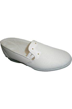 Made In Spain 1940 Zapatos Zapatilla tela de rejilla con cuña media para mujer