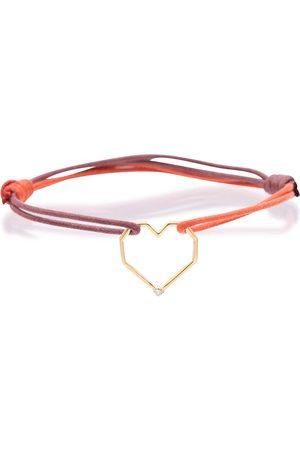 Aliita Pulsera Corazón Brillante con detalles de oro de 9 ct y diamante