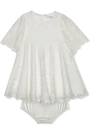 Dolce & Gabbana De manga corta - Vestido con encaje de manga corta