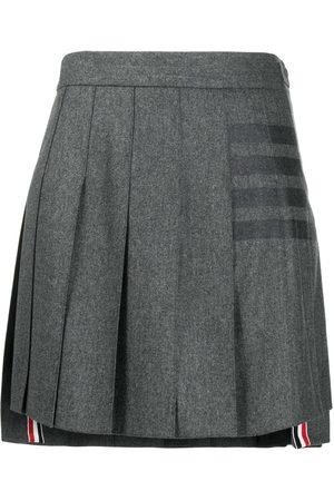 Thom Browne 4-Bar print pleated mini skirt