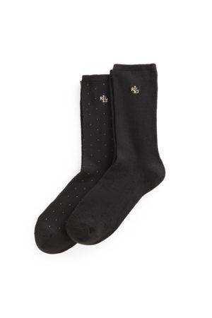 Lauren by Ralph Lauren Mujer Calcetines - 2 pares de calcetines largos