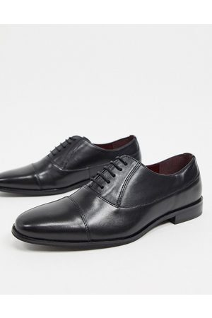 WALK LONDON Zapatos con puntera negros de cuero Alfie de