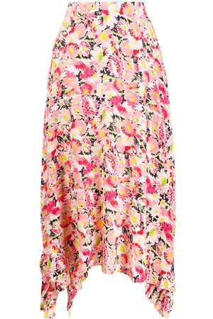 Stella McCartney Falda drapeada con motivo floral