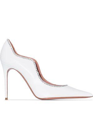 Amina Muaddi Zapatos de tacón de 110mm Romy de x Browns 50