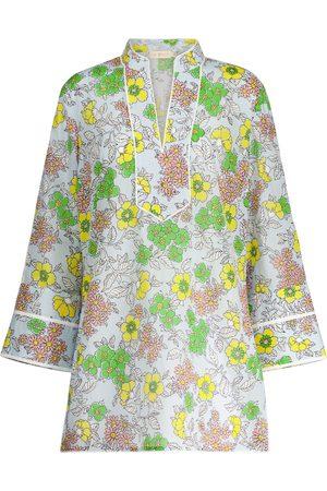 Tory Burch Caftán de algodón floral