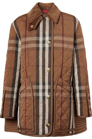 Burberry Check-print corduroy coat