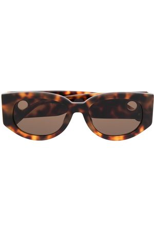 Linda Farrow Gafas de sol cat eye de carey