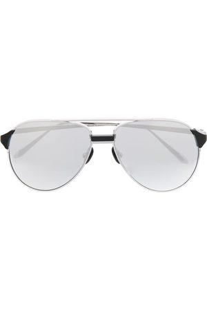 Linda Farrow Gafas de sol estilo aviador