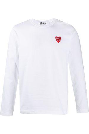 Comme des Garçons Camiseta con corazón bordado