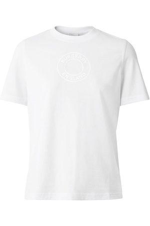 Burberry Mujer Tops - Camiseta con logo estampado