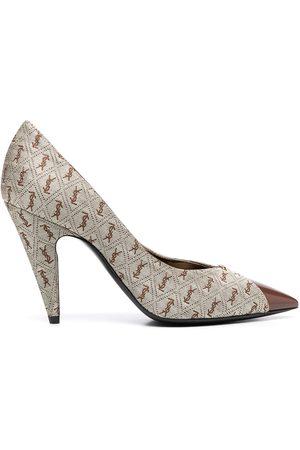 Saint Laurent Zapatos de tacón con motivo del logo