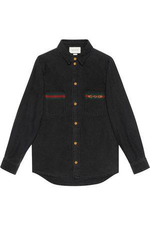 Gucci Web-detail denim shirt
