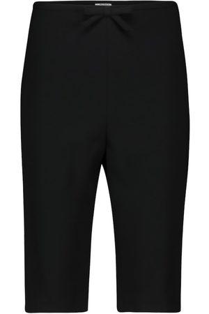 Miu Miu Shorts de tiro alto
