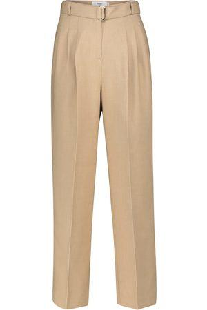 Frankie Shop Pantalones rectos con cinturón