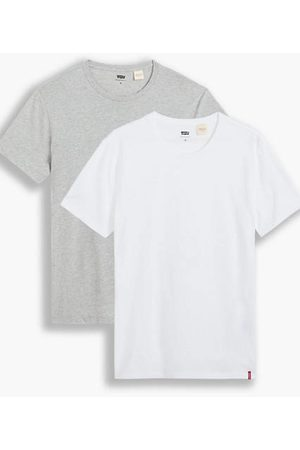 Levi's Slim Tee 2 Pack / White/ Medium Heather Grey