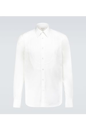 Alexander McQueen Camisa formal de algodón