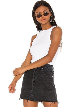 AGOLDE Camiseta tirantes rib tank en color talla L en - White. Talla L (también en M, S, XS).
