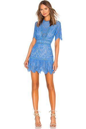 Saylor Vestido darian en color talla L en - Blue. Talla L (también en S, XS).