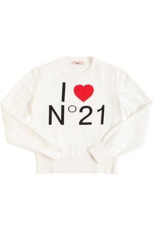 Nº21 | Niña Suéter De Punto De Algodón Con Intarsia 10a
