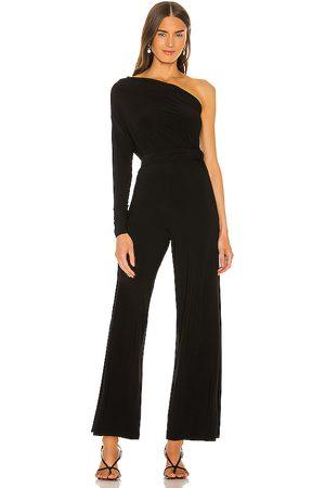 Norma Kamali Tie front all en one strapless jumpsuit en color talla M en - Black. Talla M (también en S, XS, XXS).